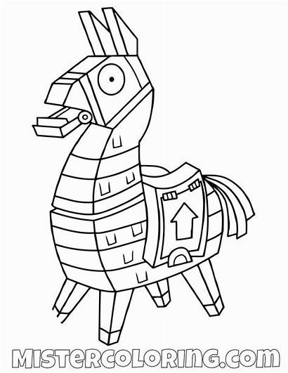Fortnite Llama Coloring Pages Printable Boys Colouring