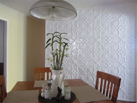 pressed metal feature walls contemporary dining room