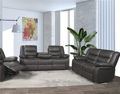 nick grey reclining sofa love  grey nick reclining living room groups price busters