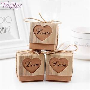 Aliexpresscom buy fengrise 50pcs heart candy box for Gifts for wedding guests