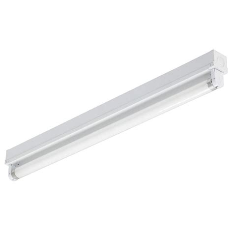 Fluorescent Light by Lithonia Lighting 2 Ft 1 Light Gloss White T8 Fluorescent