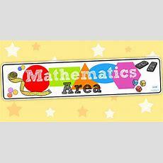 Mathematics Area Display Banner Eyfs  Maths, Banner, Display