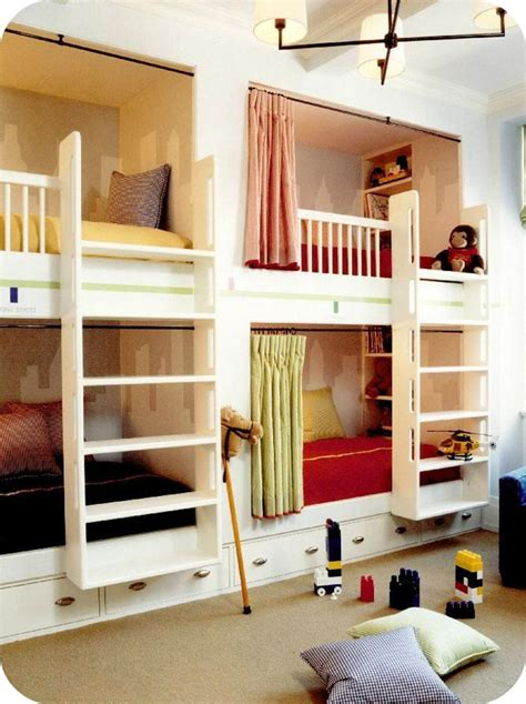 Modern Country Style Girls' Bedrooms Bunk Beds