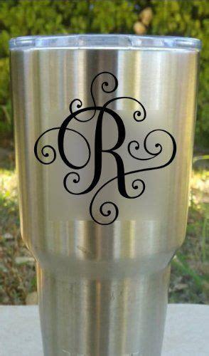 elegant scroll monogram  yeti mugs monogram decal decals  yeti cups silhouette cameo vinyl