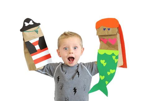 paper bag puppets small fry crafts for 876 | 7283798cedf14b8af8596a6885726a42