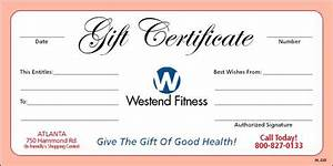 Personal Training Gift Certificates