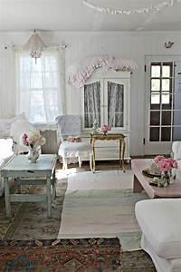 Vintage Wohnzimmer Möbel : shabby chic im wohnzimmer 55 m bel und deko ideen ~ Frokenaadalensverden.com Haus und Dekorationen