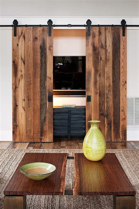 barn door ideas 25 ingenious living rooms that showcase the of