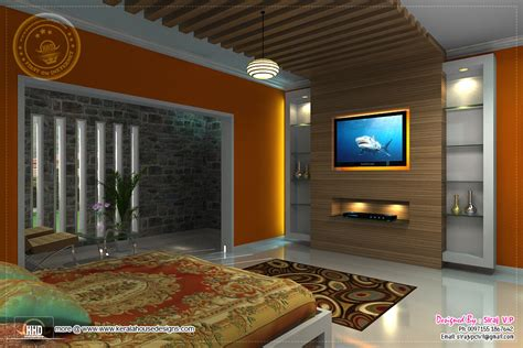 renderings  bedroom interior design kerala home