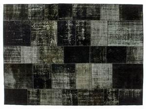 Tappeto patchwork in stile vintage PATCHWORK BLACK by Golran