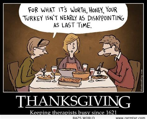 Thanksgiving, Keeping Therapists Busy Since 1621 Pictures