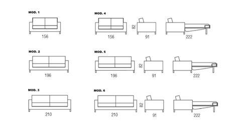 canapé dwg divano letto in tessuto divano letto bedding