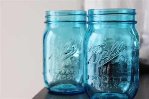 blue jars 1 aqua blue mason jars jar canning jars rustic vintage wedding