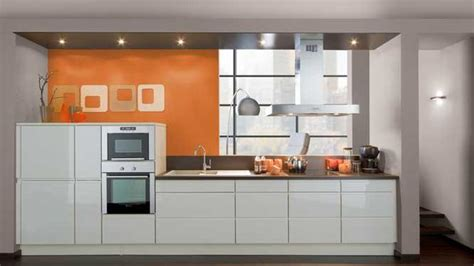 cuisine orange style idée déco cuisine orange