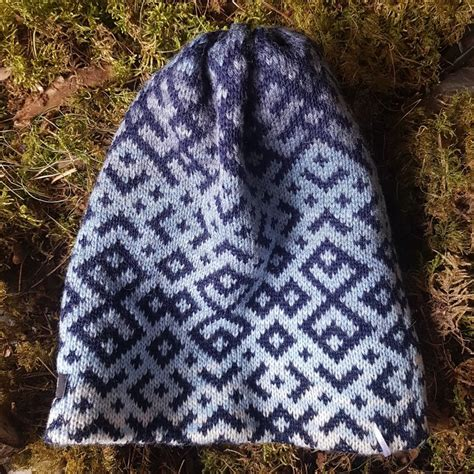 Adīta cepure ar latviešu rakstiem 3 - Cepures - E-veikals ...