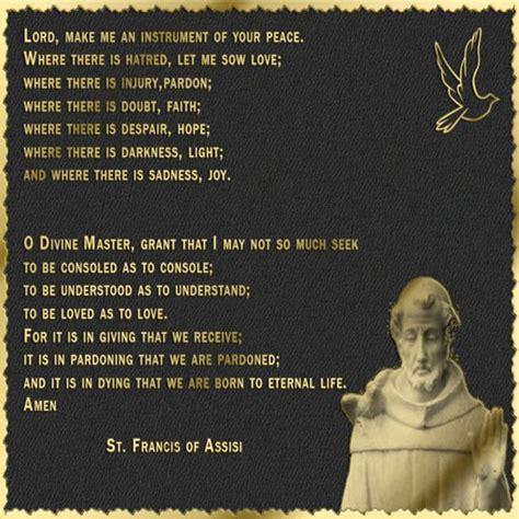 prayer of st francis of assisi king of jeshurun
