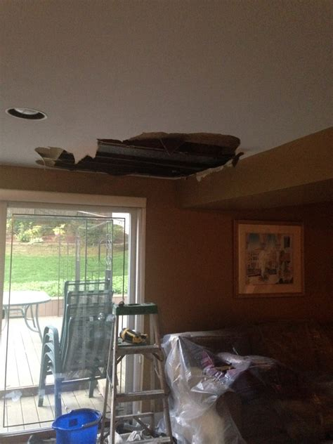 ceiling water damage repairguide preventing mold