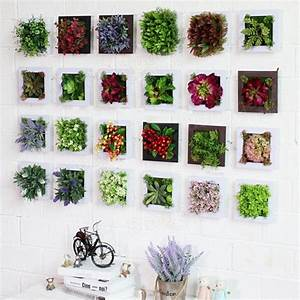 D artificial plant simulation flower frame wall decor