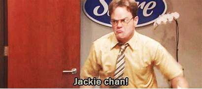 Dwight Schrute Jackie Chan Office Jim Gifs