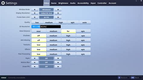 fortnite settings menu gearbroz