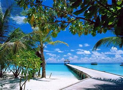 Beach Tropical Summer Nature Boat Landscape Sea