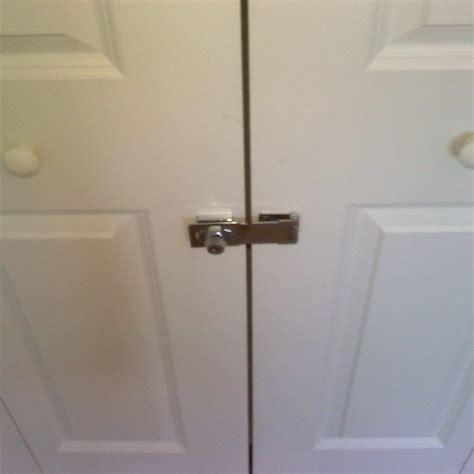 Closet Door Locks sliding closet door locks with key home in 2019