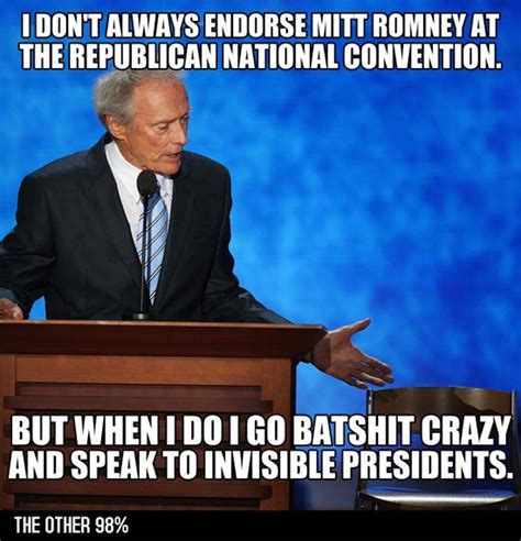 Clint Eastwood Chair Meme - image 388591 clint eastwood s empty chair speech eastwooding invisible obama know