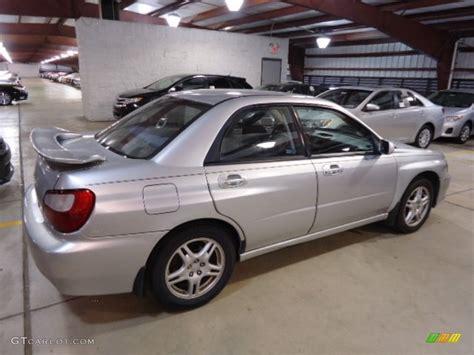 silver subaru platinum silver metallic 2002 subaru impreza 2 5 rs sedan