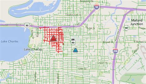 entergy working  restore power outages  lake charles