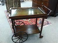 antique tea cart Gorgeous Antique Mahogany Rolling Tea Cart circa 1920 For ...