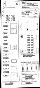 2004 E500 Fuse Diagram - Not In Fuse Box