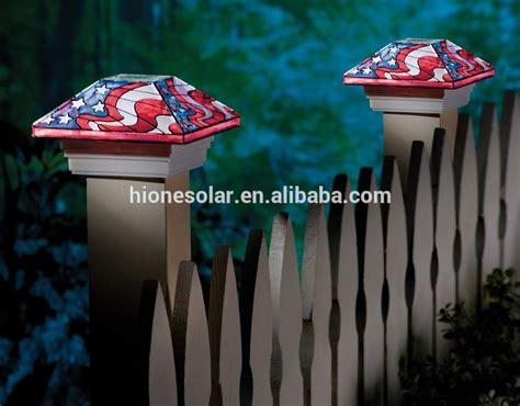 patriotic flag solar gate post cap light buy solar gate