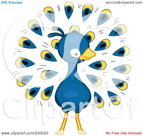 royalty free rf clipart illustration of a peacock by bnp design studio 230023