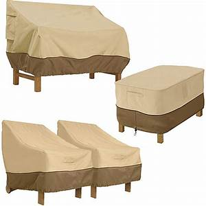 Classic accessories veranda patio set cover value bundle for Walmart deck furniture covers