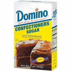 Domino Pure Cane Confectioners 10-X Powdered Sugar 1 LB ...