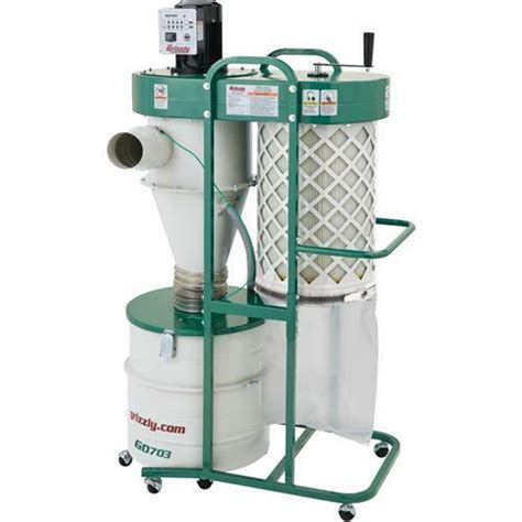 grizzly   hp  stage cyclone dust collector ebay