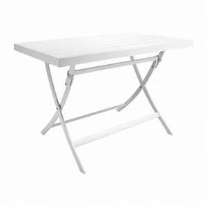 Table De Jardin Blanche : blanche table de jardin habitat ~ Teatrodelosmanantiales.com Idées de Décoration