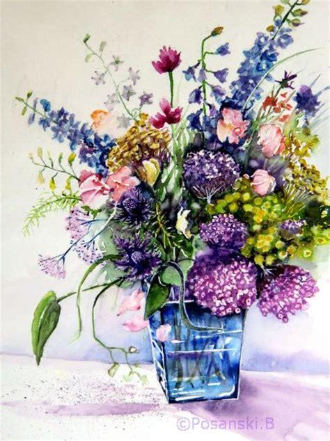 Tulpenstrauß In Vase by Bunter Strau 223 In Blauer Vase Blumen Strau 223