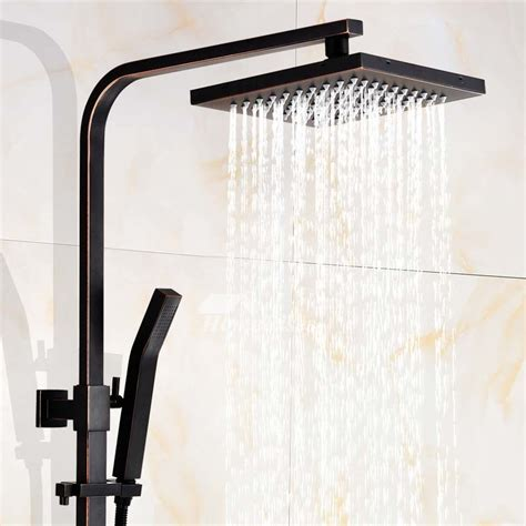 shower faucets black brass oil rubbed bronze wall