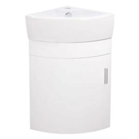 home depot corner sink elanti 17 5 in vanity cabinet with porcelain wall mounted