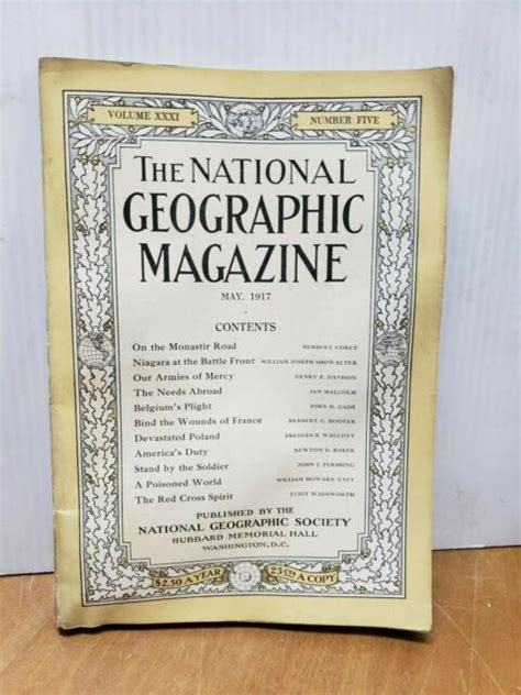 Vintage National Geographic Volume Xxxi Number Five May