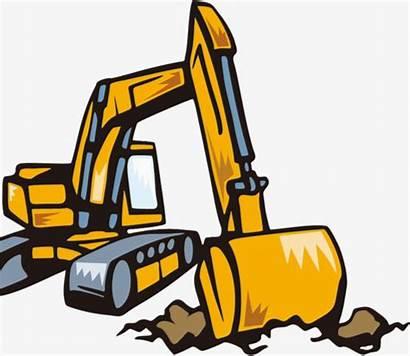 Excavator Backhoe Clipart Transparent Cartoon Animated Loader