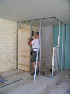 Pose Verriere Sur Placo : pose brique de verre dans cloison placo ~ Melissatoandfro.com Idées de Décoration