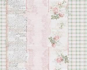 Vintage Tapete Blumen : tapete landhaus streifen blumen rosa gr n djooz 95666 1 ~ Sanjose-hotels-ca.com Haus und Dekorationen