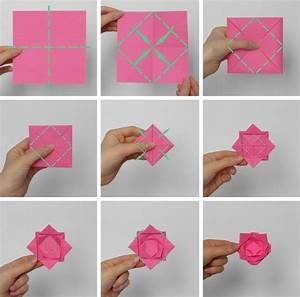 Rose Aus Serviette Drehen : fleurs en origami facile 7 id es originales avec des instructions de pliage ~ Frokenaadalensverden.com Haus und Dekorationen