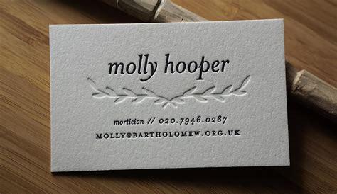 letterpress business cards hoban cards