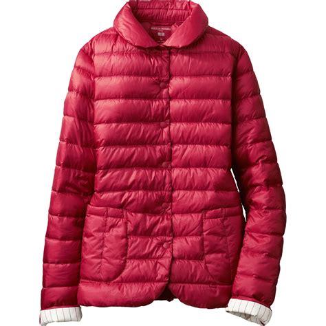 ultra light down jacket uniqlo women idlf ultra light down compact jacket in red
