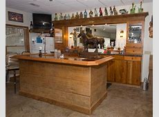 Rustic Bar Traditional Basement st louis by