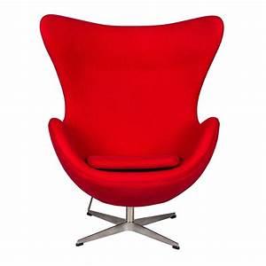 Egg Chair Arne Jacobsen : arne jacobsen egg chair red wool ~ A.2002-acura-tl-radio.info Haus und Dekorationen