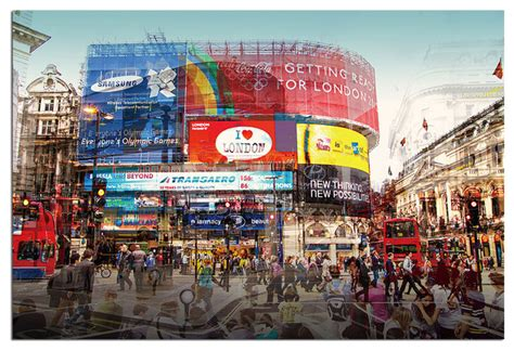 Tempered Glass Wall Art, 3D London Piccadilly CIrcus